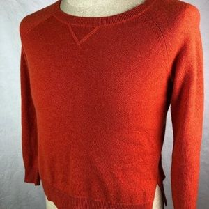 Theory Cashmere Sweater Orange Rust S Pull Over